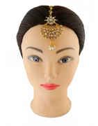 Designer Gold Finish Mang Tikka Accessories