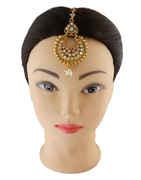 Gold Finish Fancy Traditional Mang Tika Jewellery