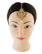 Gold Finish Traditional Mang Tika For Girls
