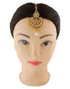 Adorable Gold Finish Mang Tikka Jewellery