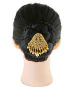 Fancy Gold Finish Hair Brooch For Wedding