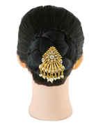 Gold Finish Hair Brooch Jooda Pin For Girls