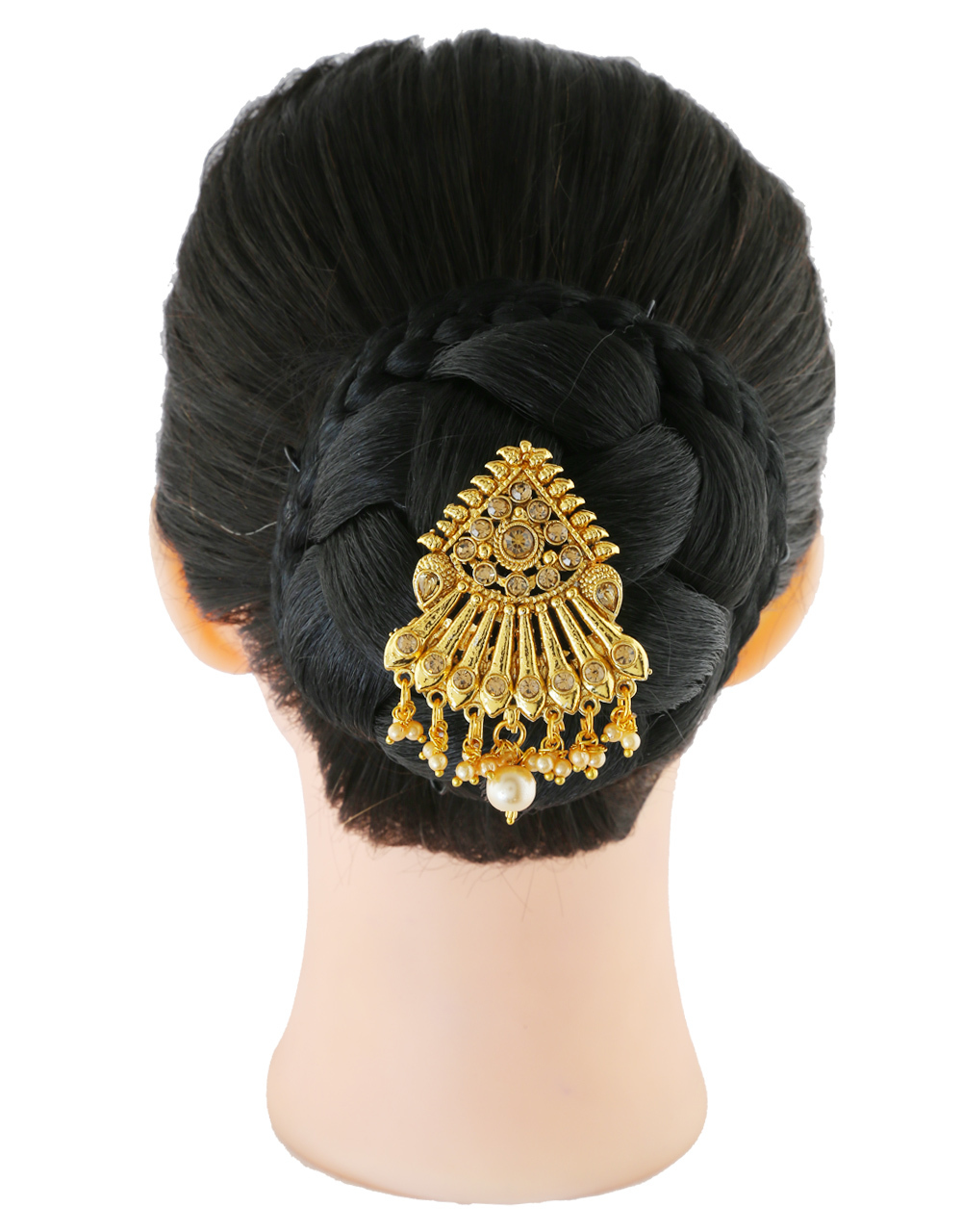 Gold Finish Designer Hair Accessories For Girls Fancy