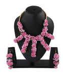 Designer Pink Colour Fancy Bride Haldi Ceremony Flower Jewellery