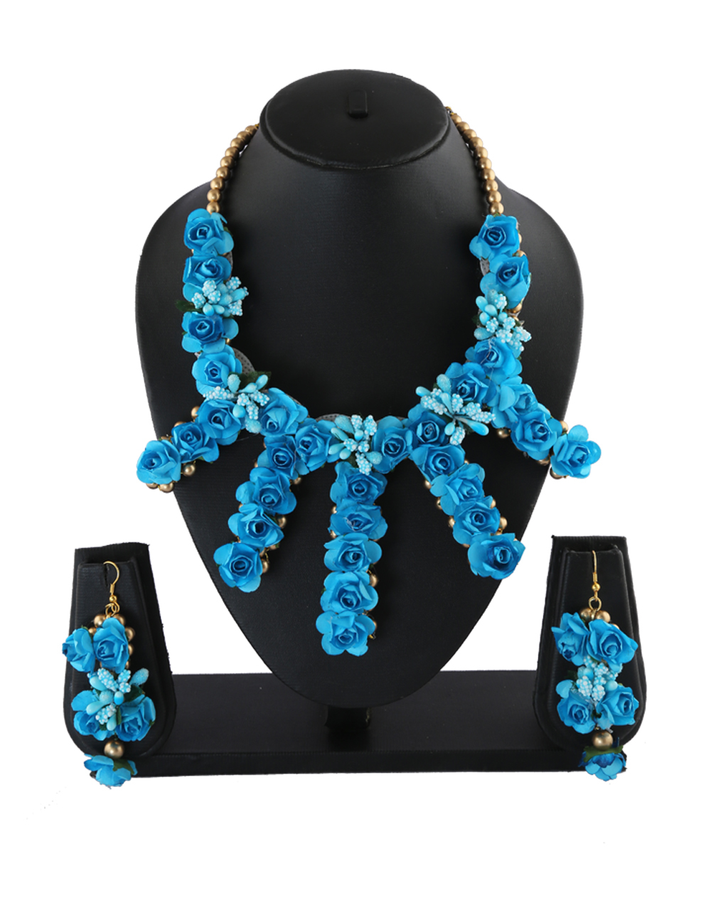 Turquiose Colour Very Classy Flower Jewellery For Girls Fancy