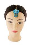 Turquiose Colour Designer Beads Flower Jewellery For Bride