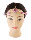 Pink Colour Gold Finish Fashionable Haldiflower Jewellery