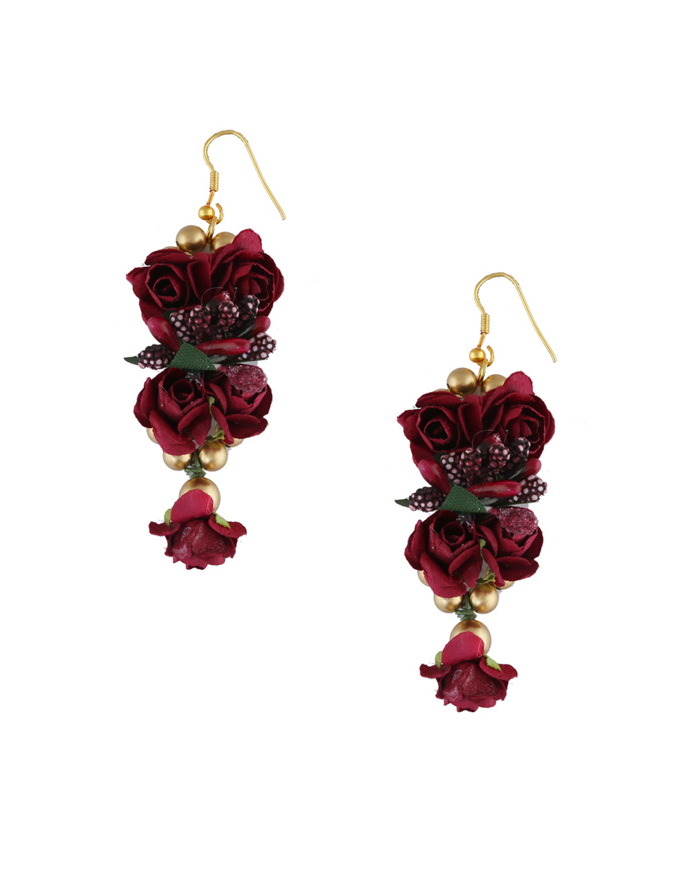 Maroon Colour Mehandi Flower Artificial Jewellery For Bride