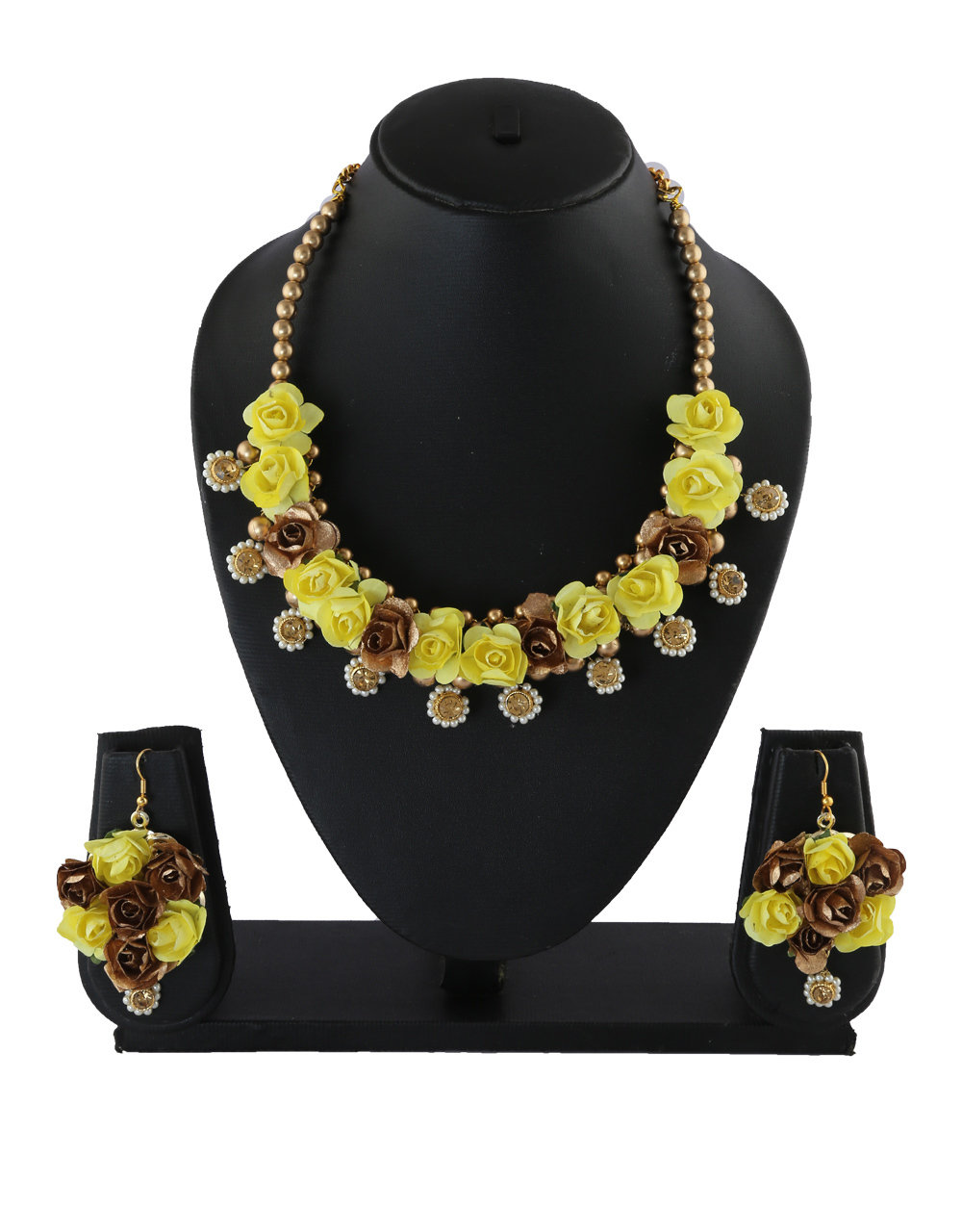 Yellow Colour Gold Finish Fashionable Jewellery For Wedding