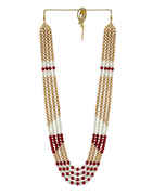Fancy Red Colour Beads Mala For Groom