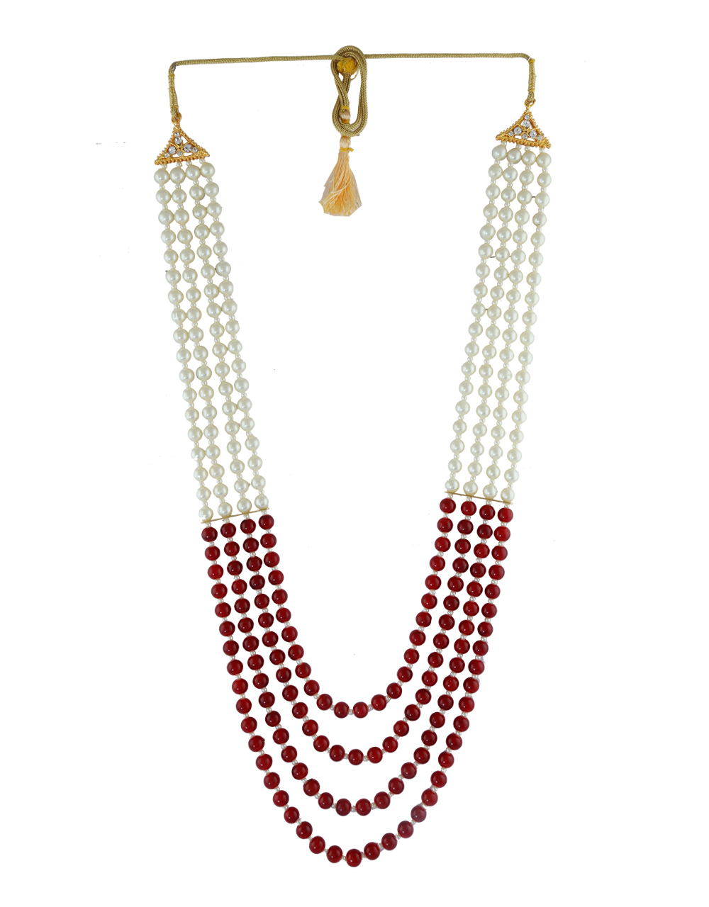 Maroon Colour Desiger Groom Jewellery For Wedding