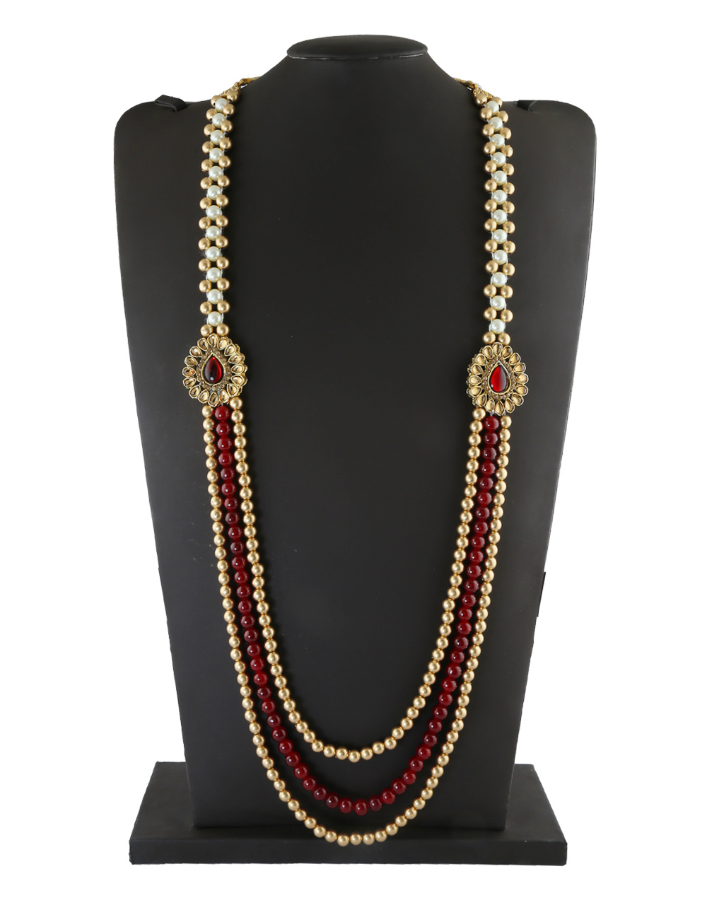 4fca5227b805f Buy Antique Gold Finish Groom Mala Studded With Stones Groom ...