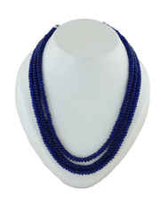 Blue Colour Layered Mala For Party Wear