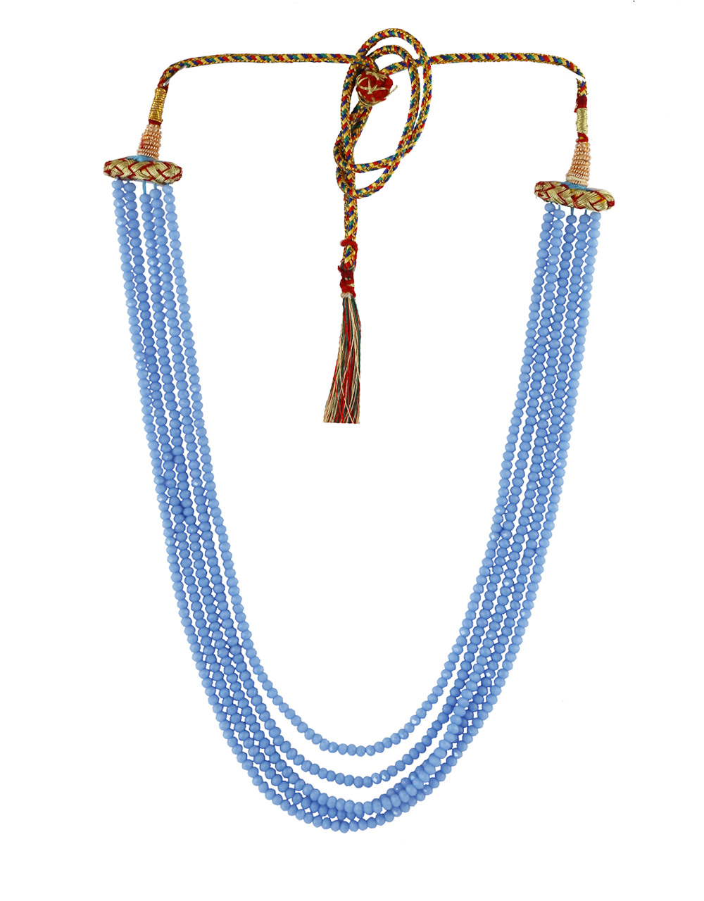 Fancy Blue Colour Cristal Mala For Girls