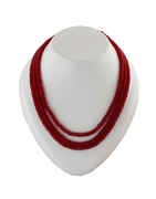Maroon Colour Beads Mala For Girls