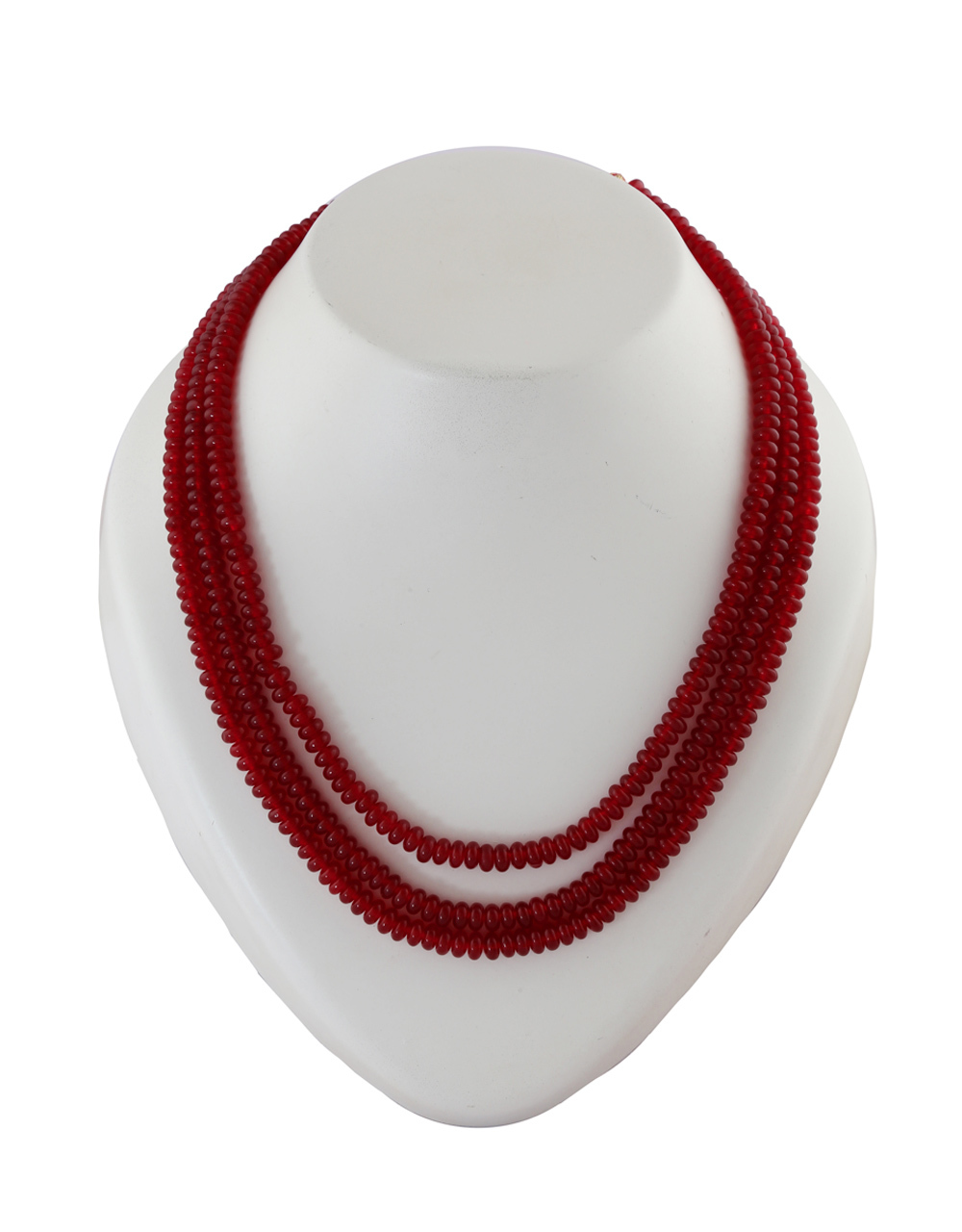 Red Colour Beads Jewellery For Girls Fancy