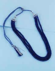 Blue Colour Fancy Beads Mala For Women