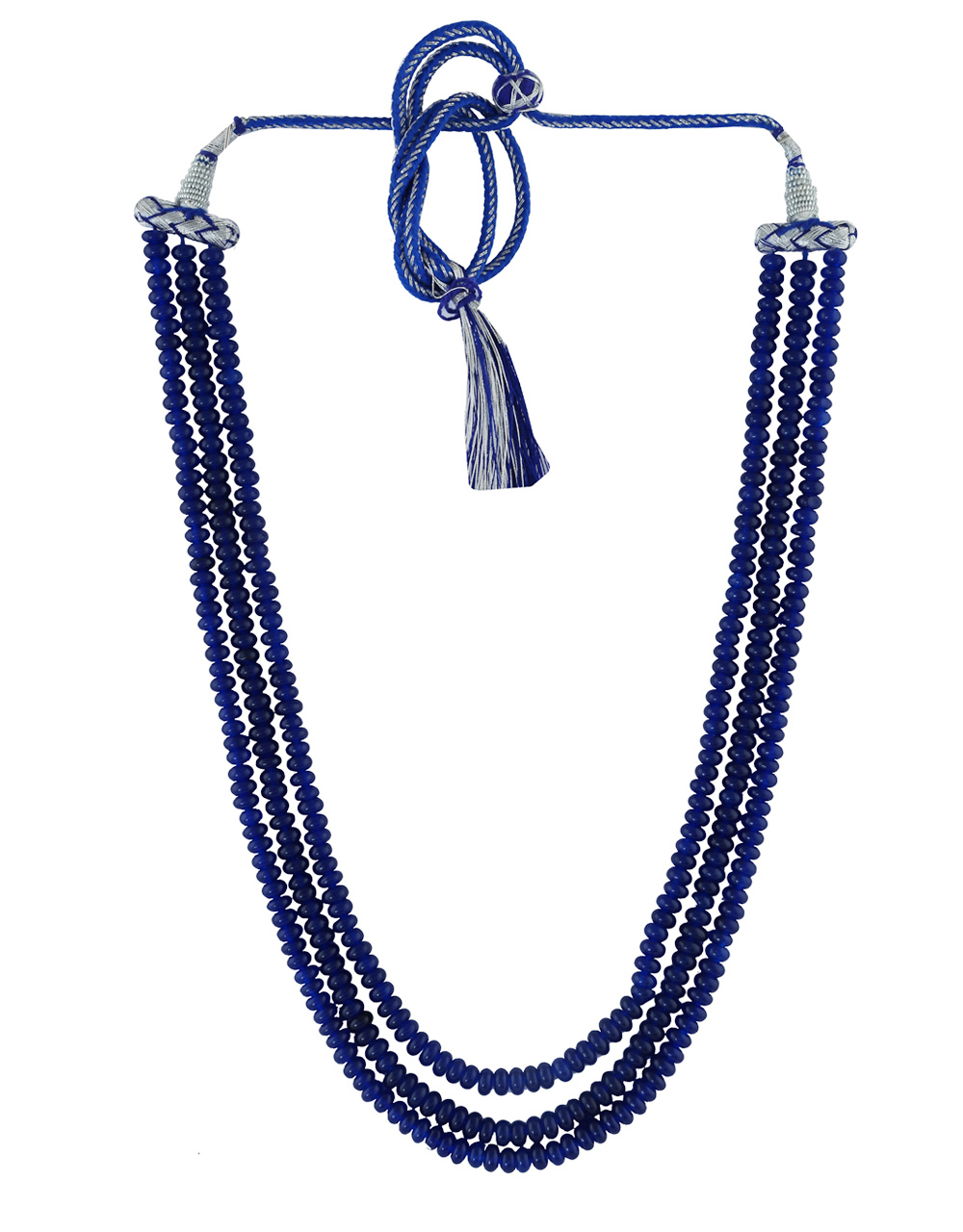 Blue Colour Fancy Beads Mala For Women