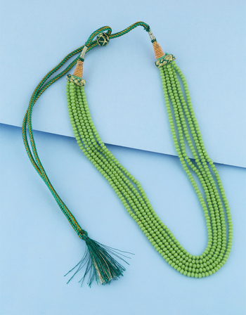 Green Colour Fancy Beads Mala For Girls