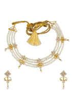Very Classy Gold Finish Marathi Necklace Jewellery