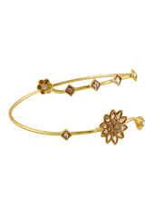 Gold Finish Floral Design Armlet Design