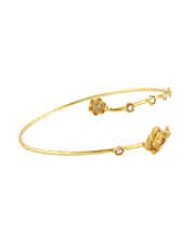Designer Gold Finish Bajuband Fancy For Girls