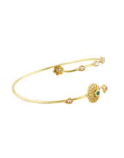 Floral Design Gold Finish Armlet Jewellery For Girls