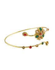 Multi Colour Traditional Gold Finish Armlet