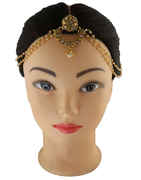 Forehead Jewellery with Golden Finish Matha Patti