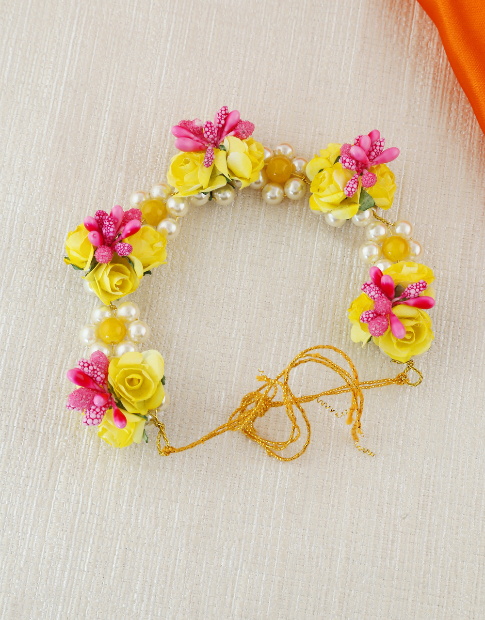 Pink-Yellow Combinaton Fancy Hair Accessories