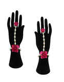 Rani Colour Adorable Flower Jewellery For Bride