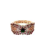 Very Classy Designer Rose Gold Finish Multi Colour Diamond Bracelets