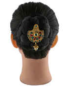 Fancy Gold Finish Stylish Hair Juda Pin For Wedding