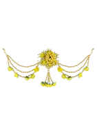 Yellow Colour Designer Fancy Hair Flower Accessories For Girls