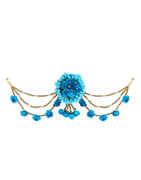 Turquoise Colour Fancy Hair Accessories Designer Fancy