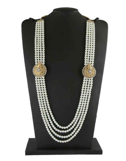 Gold Finish Designer Stunning Groom Necklace For Men