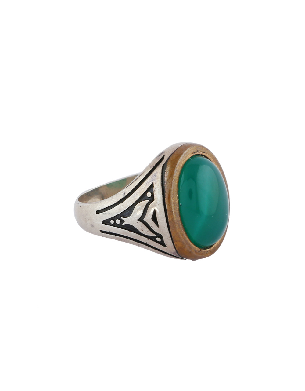 Green Colour Stone Finger Ring For Girls