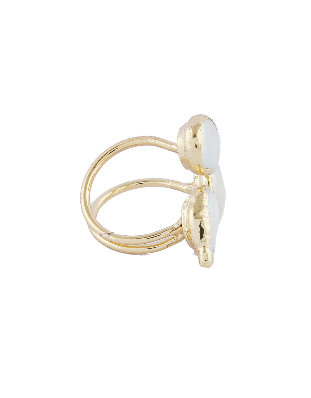 Gold Finish Unique Design Finger Ring Fancy