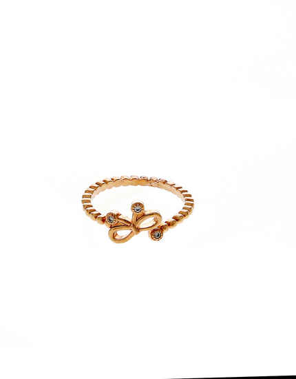 Designer Rose Gold Finish Diamond Finger Ring