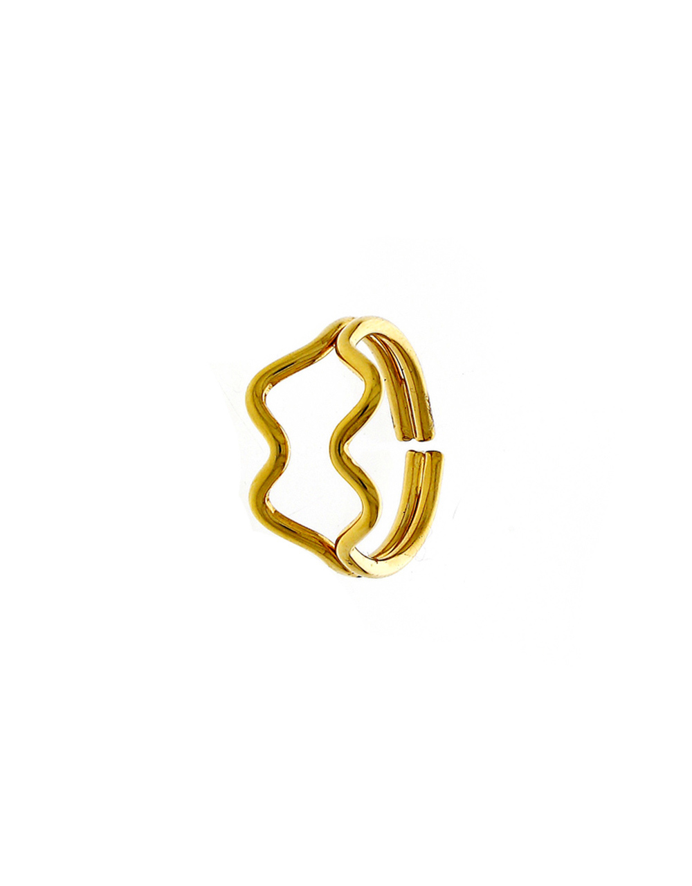 Gold Finish Unique Design Korean Finger Ring