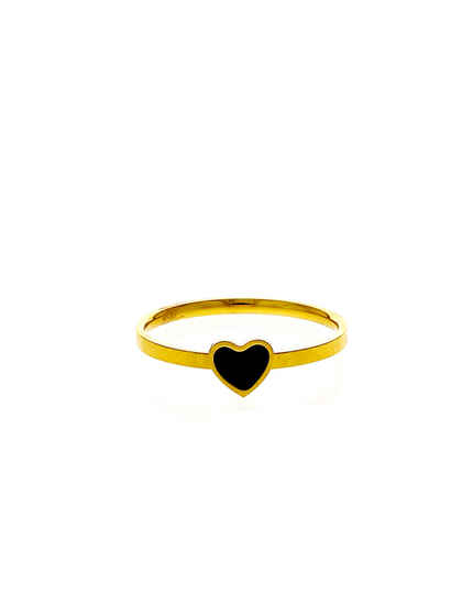 Black Colour Gold Finish Finger Ring For Daily Wear