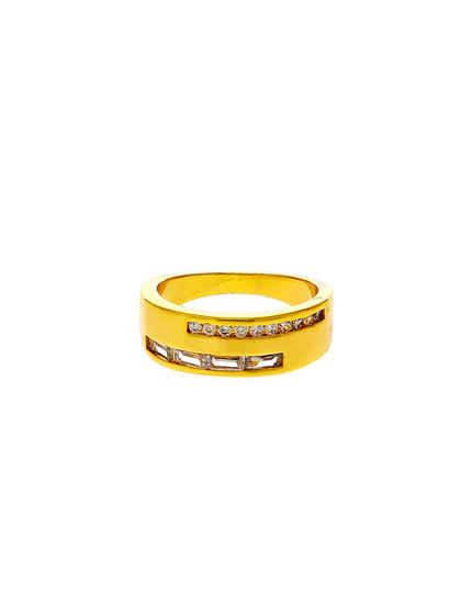 Gold Finish Adorable Diamond Thumb Ring