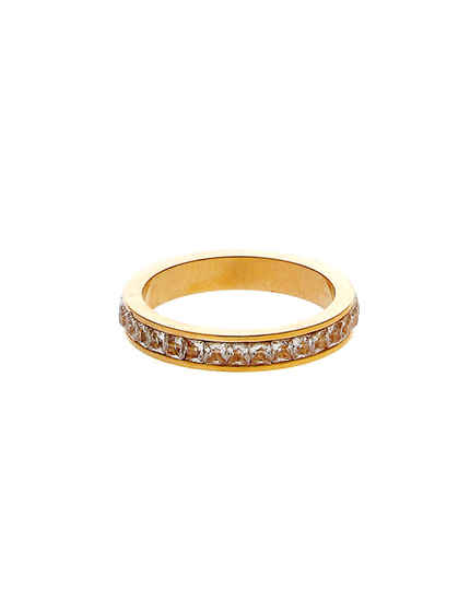 Fashionable Gold Finish Diamond Finger Ring