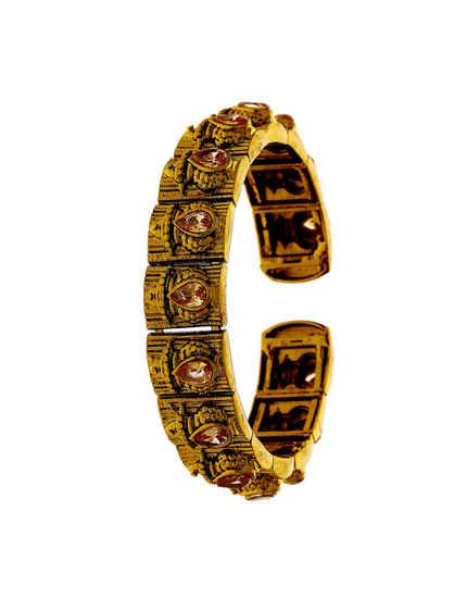 Antique Gold Tone Adorable Bracelets Kada