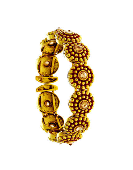 Gold Finish Fancy Bracelets For Girls Traditional
