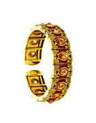 Gold Finish Floral Design Stunning Hand Bracelets For Girls