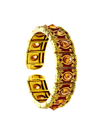 Gold Finish Floral Design Stunning Hand Bracelets For Girls