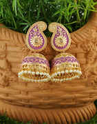 Purple Colour Gold Finish Designer Zumkaa For Girls