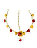 Yellow-Red Combination Very Classy Designer Haldiflower Jewellery For Women