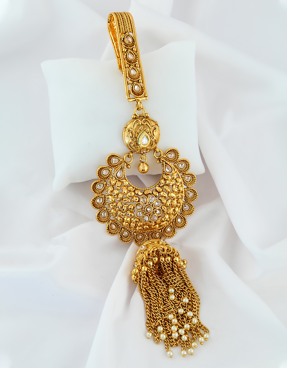Adorable Gold Finish Stunning Fancy Challa For Girls